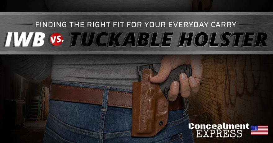 Finding the Right Fit for Your Everyday Carry: IWB vs. Tuckable Holster