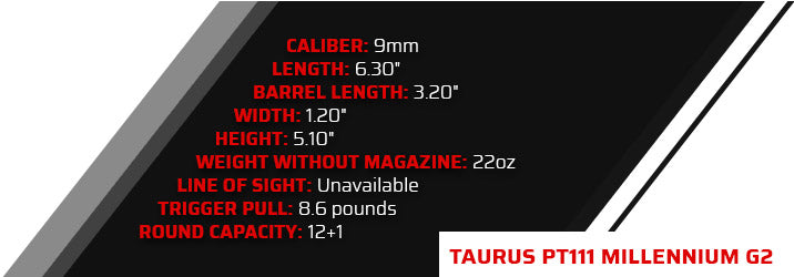 Taurus PT111 Millennium G2 (Single Stack / Compact)