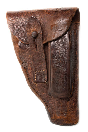 worn leather holster