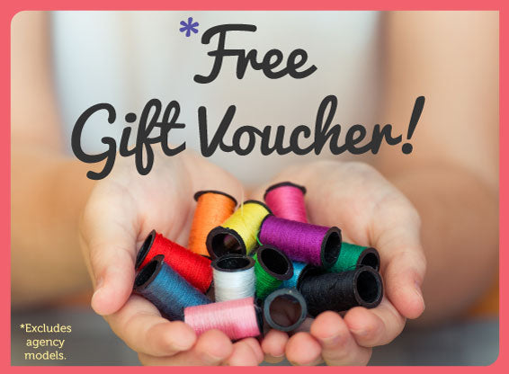 *FREE VOUCHER WHEN YOU BUY ANY SEWING MACHINE OR OVERLOCKER THAT COSTS £100 OR MORE FROM WEAVERDEE!
