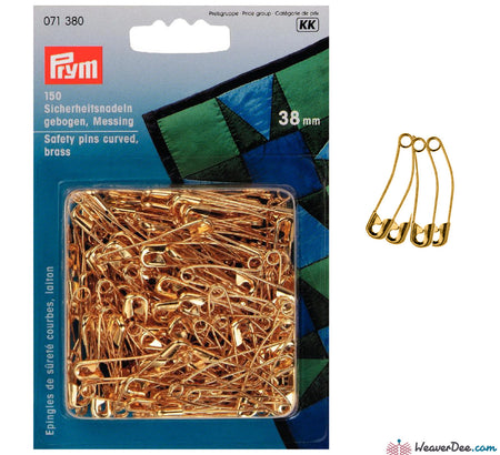 Prym - 38mm Curved Basting Pins (Pack of 150) - WeaverDee.com Sewing & Crafts