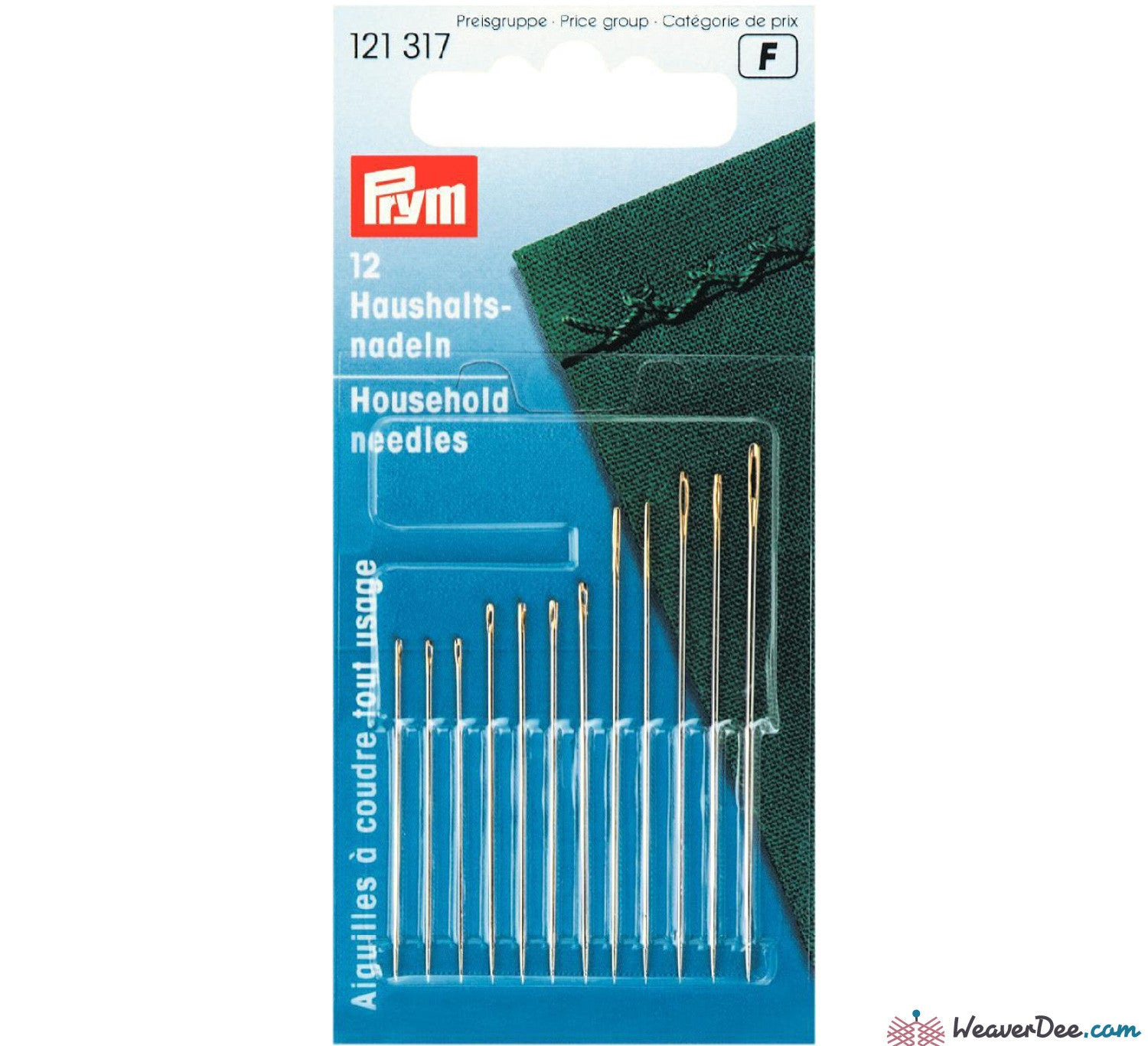 Prym - Household Sewing Needles [Gold Eye] - WeaverDee.com Sewing & Crafts