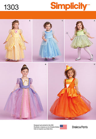 Simplicity - S1303 Toddlers' & Child's Costumes - WeaverDee.com Sewing & Crafts - 1