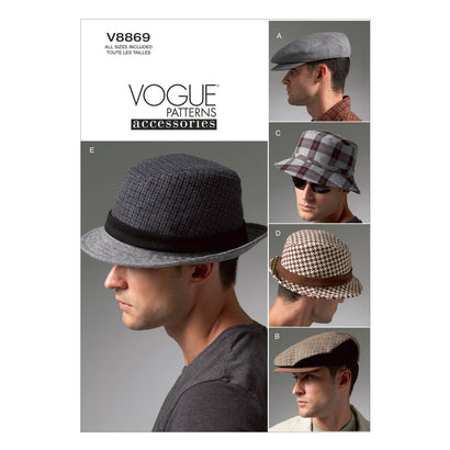 Vogue Pattern V8869 Men's Hats