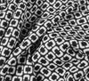 Chain Viscose Soft Crêpe Fabric - Black & White