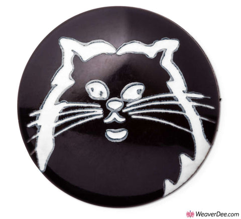 PRYM Cat Buttons (Black & White)