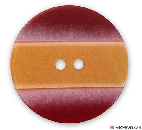 PRYM Button Striped Yellow Red 25 mm