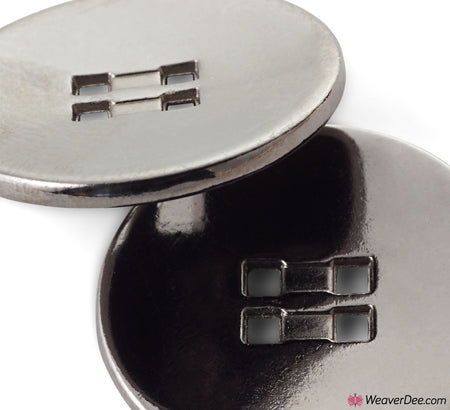 PRYM Dark Grey Button - 4 Square Holes
