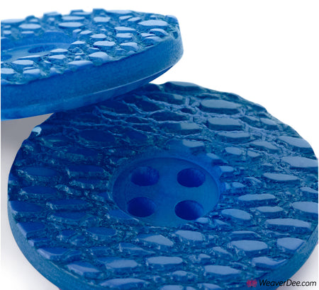 PRYM Button Snake Print Royal Blue