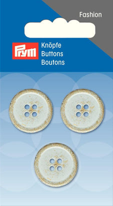 Prym - Button Brass Edge Light Grey - WeaverDee.com Sewing & Crafts