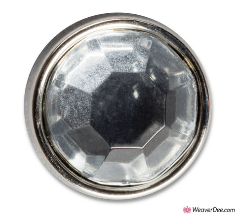 PRYM Crystal with Silver Ring Button 11 mm