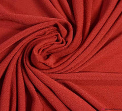 Plain Stretch Moss Crêpe Fabric - Red