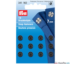 Prym - Press Studs (Sew-On) - Black Metal 7mm - Pack of 12 - WeaverDee.com Sewing & Crafts - 1