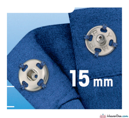 Prym - Press Studs (Sew-On) - Silver 15mm - Pack of 6 - WeaverDee.com Sewing & Crafts - 1