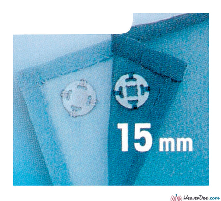 Prym - Press Studs (Sew-On) - Clear Plastic 15mm - Pack of 6 - WeaverDee.com Sewing & Crafts - 1