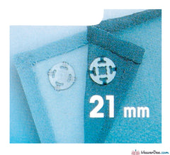 Prym - Press Studs (Sew-On) - Clear Plastic 21mm - Pack of 3 - WeaverDee.com Sewing & Crafts - 1