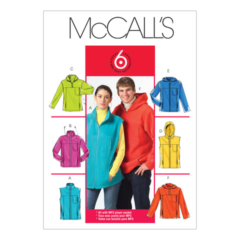 McCall's Pattern M5252 Misses/Men's Unlined Vest & Jackets
