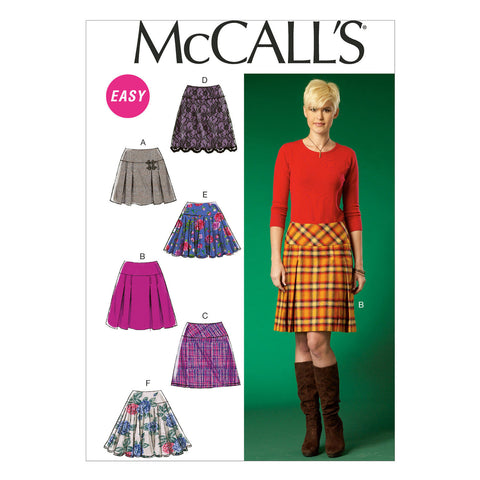 McCall's - M7022 Misses' Skirts | Easy - WeaverDee.com Sewing & Crafts - 1