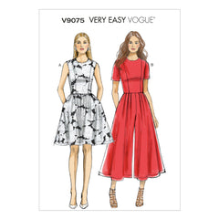 Vogue - V9075 Misses'/Misses' Petite Dress & Jumpsuit | Very Easy - WeaverDee.com Sewing & Crafts - 1