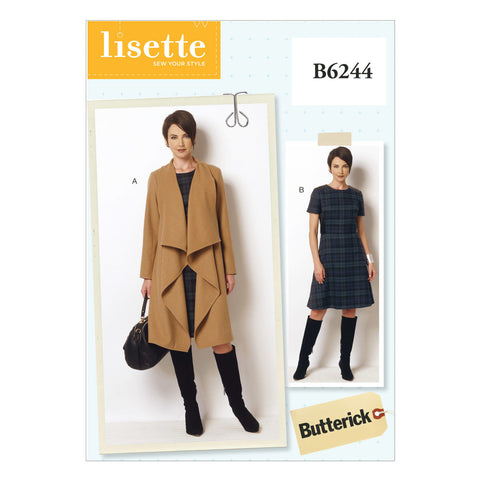 Butterick - B6244 Misses'/Women's Coat & Dress - WeaverDee.com Sewing & Crafts - 1