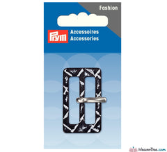 Prym - Fashion Belt Buckle 30mm / Black - White - WeaverDee.com Sewing & Crafts