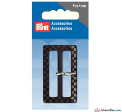 Prym - Fashion Belt Buckle 40mm Checkered / Black - Grey - WeaverDee.com Sewing & Crafts