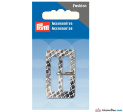 Prym - Fashion Buckle 30mm Snake Skin Effect / Grey - WeaverDee.com Sewing & Crafts - 2