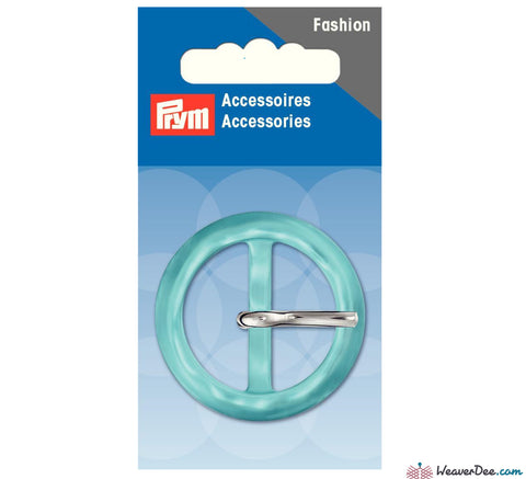 Prym - Fashion Buckle 30mm Round / Turquoise - WeaverDee.com Sewing & Crafts