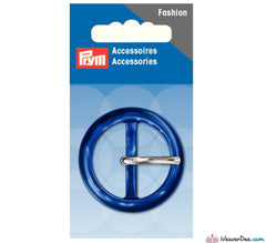 Prym - Fashion Buckle 30mm Round / Dark Blue - WeaverDee.com Sewing & Crafts