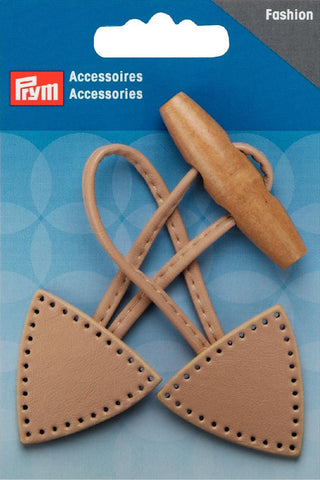 Prym - Toggle Button Leather Fixing Beige - WeaverDee.com Sewing & Crafts - 1