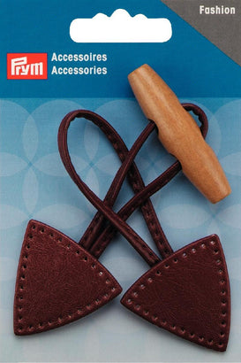 PRYM Toggle Button Leather Fixing Brown