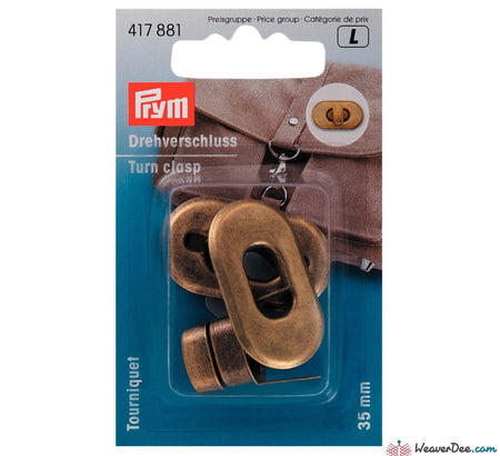 Prym - Antique Brass Turn Clasp - WeaverDee.com Sewing & Crafts - 1