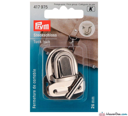 Prym - Tuck Lock Fastening - Silver - WeaverDee.com Sewing & Crafts - 1