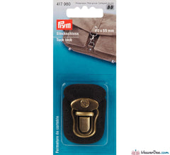 Prym - Tuck Lock Fastening Antique Brass - WeaverDee.com Sewing & Crafts - 1