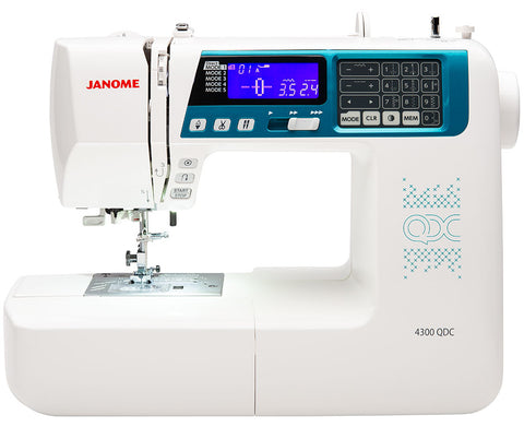 Janome 4300QDC Sewing Machine with Bonus Sew-Table & Extra Presser Feet Set