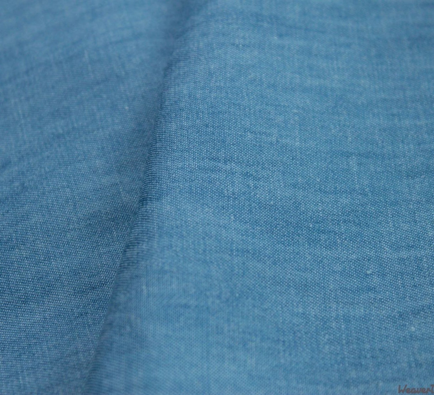 "WeaverDee - 8oz Washed Denim Fabric / 58"" / Light Blue - WeaverDee.com Sewing & Crafts - 1"