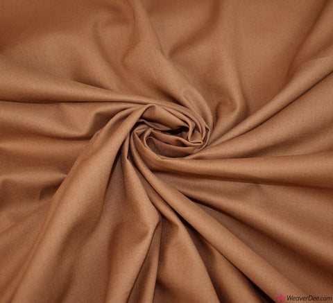 Brown Plain Cotton Fabric (60 Square)