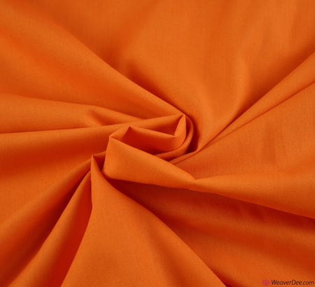 Orange Plain Cotton Fabric (60 Square)