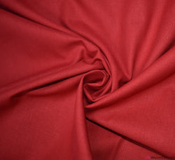 Plain Cotton Fabric / Red (60 Square)