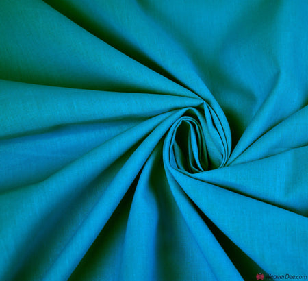 Plain Cotton Fabric / Turquoise (60 Square)