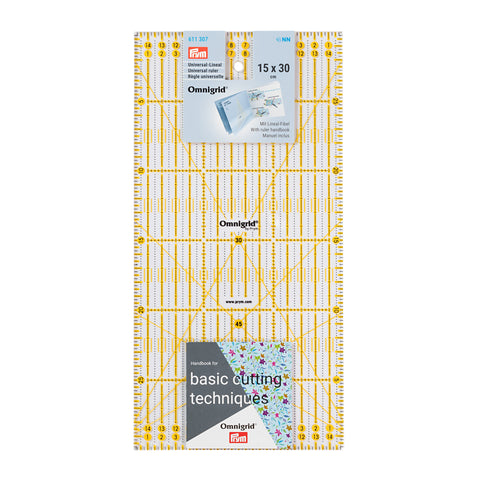 PRYM Omnigrid® Universal Ruler 15 × 30cm (UK Delivery Only)