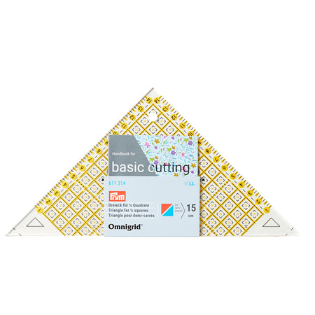 PRYM Omnigrid® Jaunty Triangle Patchwork Ruler / For ½ Squares up to 15cm