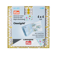 PRYM Omnigrid® Universal Ruler 4 × 4 inch (UK Delivery Only)