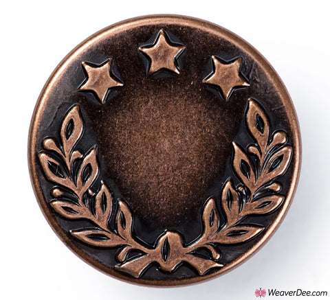 Jeans Buttons Antique Copper 17mm (No-Sew): Pack of 100