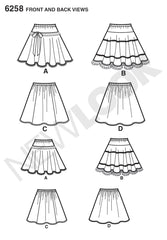 New Look - NL6258 Child's & Girls' Circle Skirts - WeaverDee.com Sewing & Crafts - 1