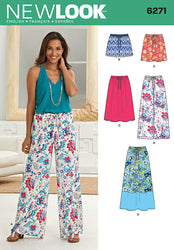 New Look - NL6271 Misses' Skirt in Three Lengths & Pants or Shorts - WeaverDee.com Sewing & Crafts - 1