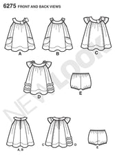 New Look - NL6275 Babies' Dress & Panties - WeaverDee.com Sewing & Crafts - 1
