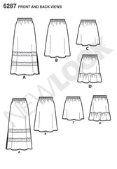 New Look - NL6287 Misses' Pull on Skirt in 4 Lengths - WeaverDee.com Sewing & Crafts - 1