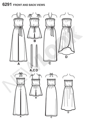 New Look - NL6291 Misses' Jumpsuit & Dress Each in 2 Lengths - WeaverDee.com Sewing & Crafts - 1