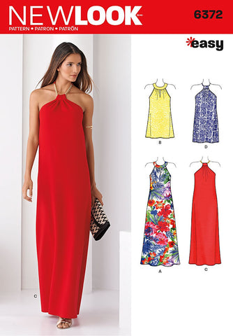 New Look - NL6372 Misses' Dresses in Two Lengths - WeaverDee.com Sewing & Crafts - 1